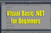 Visual Basic .NET te leren voor Beginners