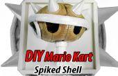 DIY karton Mario Kart blauwe Shell trofee