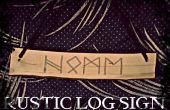 Rustieke Log teken