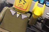 3D-gedrukte Lego Guy / afwerking PLA