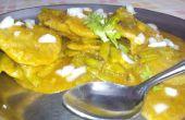 Cluster-bonen / Gavarfali Dhokli met tarwe meel Dumplings-DIY Indiase recept