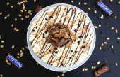 SNICKERS CARMAEL SHORTBREAD ICE CREAM TART