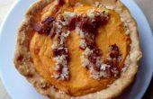 Smakelijke zoete aardappel met Bacon krokant Pi taart