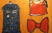 TARDIS en Fez / Bow tie Window Cling