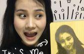 Laser snijden een Pixel portret over jezelf