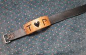 Aangepaste hout en leder naam armband