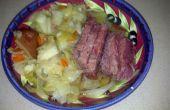 Corned Beef en kool in een Crock Pot
