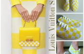 DIY schoenen Tutorial: Louis Vuitton gele geruite Print