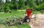 Maken en gebruiken van de ramial afgestoken hout RCW, organische Mulch, mulchen, rijke bodem, houtsnippers.