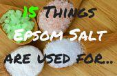 Wat Is EPSOM zout gebruikt For| Wilt u weten wat het Epsom zout gebruikt voor? 15 dingen voor je vandaag!