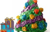 Mini Papier Mache-kerstboom met licht-Up