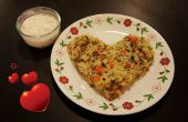 Plantaardige rijst gekookt met kokosmelk
