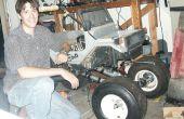 Bouwen van een enorme RC MONSTER TRUCK - Golf Cart wielen - bromfiets Motor - Remote Controlled