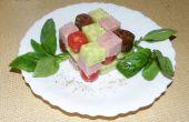 Rubik's Cube salade (gezonde Snack voor Geeks) :-)