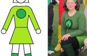Praktische superheld kostuum