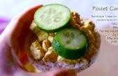 """Belgische """"Poulet-Curry"""" Sandwich vullen (GF)"""