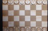 Lasergesneden Chess Board & stukken