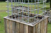 Bouwen een groot zelf drenken de tuin & broeikasgassen van hergebruikte materialen