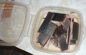 Recycle schroot hout voor de verhoging van de geesten.