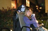 Handgemaakte iconische schedel masker dood kostuum voor Halloween