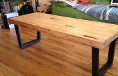 Salontafel van geregenereerde bowlingbaan lane - voor een niet-schrijnwerker wonen in kleine appartement