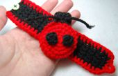 A Girl's lieveheersbeestje Manchet armband gehaakte