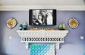 Home decor how-to: Maak een vakantie mantel. Open haard niet verplicht