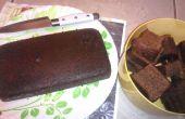 Vochtige honing Cake met koffie smaak
