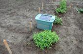 Herten afschrikkende / repeller voor uw tuin met behulp van een solar powered mp3-speler te spelen van een persoon praten