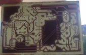 Zelfgemaakte dubbellaagse PCB met toner overzetmethode