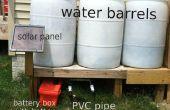Zonne-aangedreven pomp voor water vaten