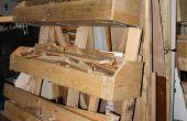 Flexibele mobiele hout opslag rack met behulp van pallets