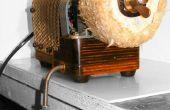 Steampunk Direct Drive Rotary Machine aangedreven door de Dyson met Retro 80s afslijping geheim