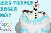 Bevroren sneeuwpop Olaf Fondant slagroom taart Toppers
