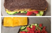 Cheesy tomaat courgette Gourmet Sandwich