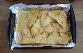 Gebakken maïs tortillachips - maken - eenvoudig recept