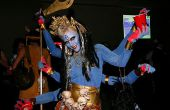 Zes gewapende godin Kali kostuum