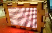 Het maken van een doos voor uw 16 x 24 HT1632C LED Matrix - ik maakte het op TechShop