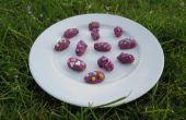 Chocolade amandelen paarse