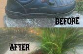 Het wijzigen van een oude schoenen in een bloempot (Easy)