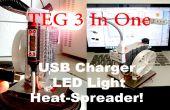 DIY TEG 3-In-één: USB-lader, LED licht en warmte-Spreader!