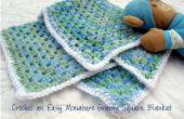 Eenvoudig haakwerk miniatuur Granny Square Baby deken