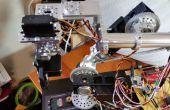 Zelfgemaakte robotarm met behulp van standaard onderdelen met behulp van de Arduino en een Processing GUI