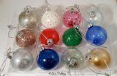DIY nagellak Kerst ornamenten