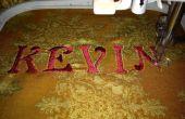 Hoe Borduur Letters op een naaimachine van borduurwerk