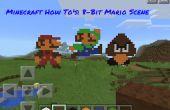 Minecraft-hoe-aan de: 8 Bit Mario scène