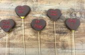 Fruit boeketten How to Make Valentijnsdag chocolade bedekt Candy Heart ananas spiesjes