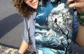 Hoe maak je een oude skateboard in een mini cruiser (Lakspuitbus Kleur stijl)