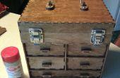 Lasergesneden kleine Toolbox/sieraden doos