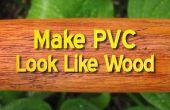 PVC hout eruit te maken